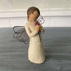 Willow Tree Loving Angel Holding a Rose